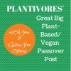 Plant-Based (Vegan) Passover Recipe Roundup