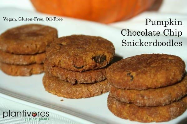 Pumpkin Chocolate Chip Snickerdoodles