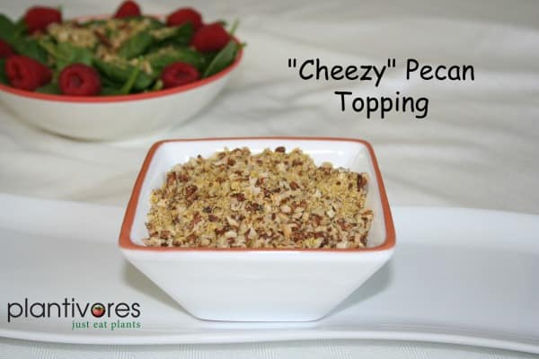 """""""Cheezy"""" Pecan Topping"""