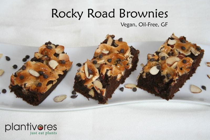 Rocky Road Brownies (Vegan, Oil-Free, Gluten-Free)